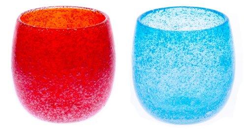 泡たるグラス2個セット(オレンジ・水)