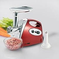 Anself 110V 300W 電動肉挽き器 アルミニウム合金 家庭用や業務用 ソーセージメーカー 肉ミンサー 食品研削機 (红)