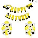 Amosfun 誕生日デコレーション 誕生日バナーとラテックスバルーン 23個