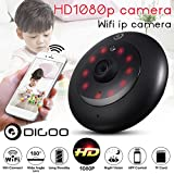 Digoo 180° Wide Lens H.265 FHD 1080P Wireless Night Vision CCTV Security Camera (Silver)