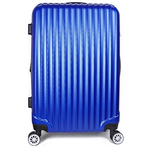 【神戸リベラル】LIBERAL 軽量スーツケース キャリーバッグ 容量アップ 8輪キャスター TSAロック付き (Mサイズ(3-5泊用 55/65L), ブルー)