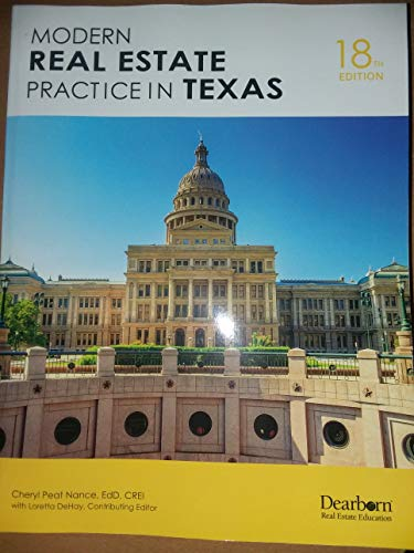 Download Modern Real Estate Practice in Texas 1475463766