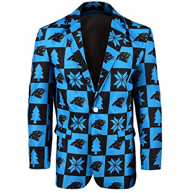 NFL Carolina PanthersメンズパッチUglyビジネスジャケット、サイズ46 / Large