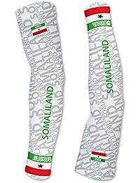 Somaliland ScudoPro Compression Arm Sleeves UV保護ユニセックス – Walking – サイクリング – Running – ゴルフ – 野球 – バスケットボール