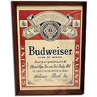 バドワイザー ビール 1960年代 ビンテージ広告 ポスター アートフレーム 額付