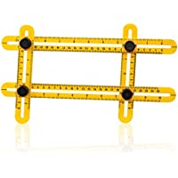 D-Fantix 自由スコヤ定規 折り畳み 角度定規 アングル測定定規 角度測定ツール 四角 多機能 大工の道具 便利屋、職人、学生 ABS マルチ角度 プラスチック製 筋交付き 物差し