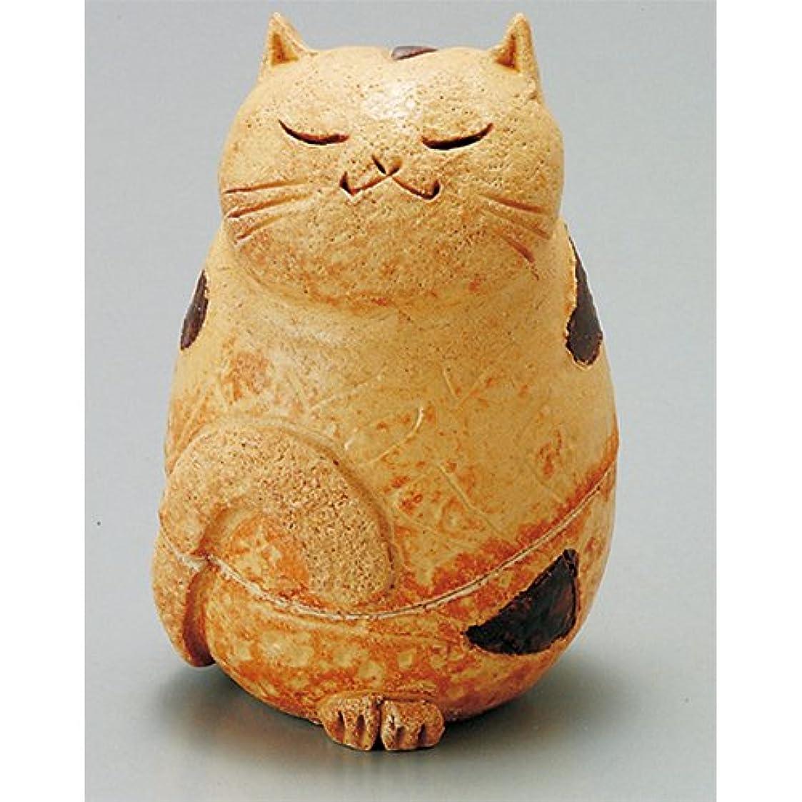 島ねこ 島ねこ 香炉(茶) [H11.5cm] HANDMADE プレゼント ギフト 和食器 かわいい インテリア