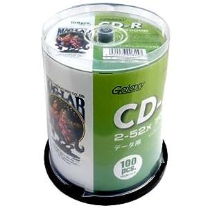磁気研究所 Galaxy CD-R データ用 700MB 52倍速 ワイドエリアホワイトプリンタブル スピンドルケース 100枚 GXCR80GP100