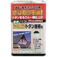 ニッペ 油性塗料 高耐久シリコントタン屋根用緑 14kg