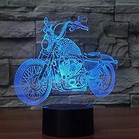 Wxmca 7色3Dランプの接触視覚リモート・コントロール漸進的な導かれた常夜灯