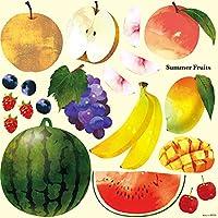 Summer Fruits デコレーションシール (W285×H285mm)  No.6824(受注生産)