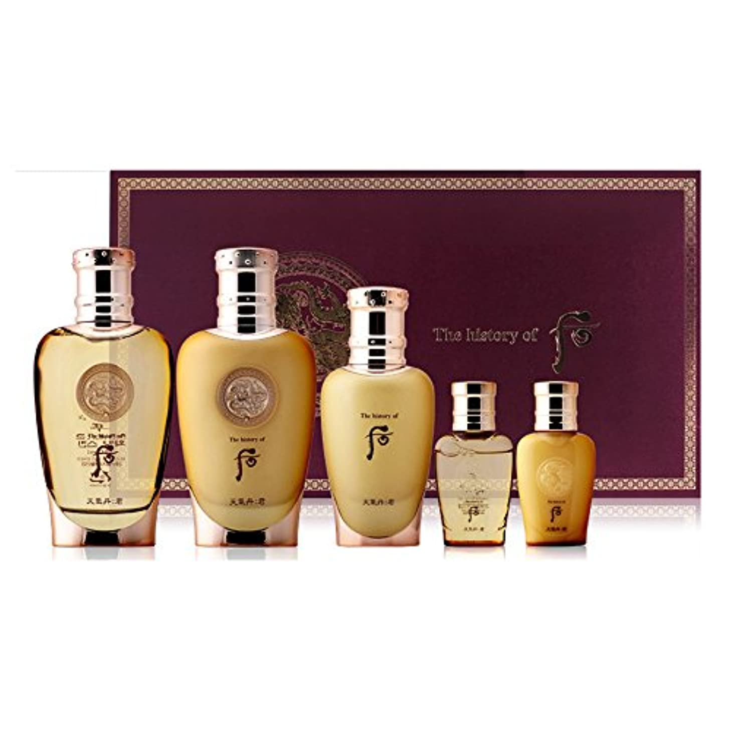 [The History Of Whoo] Whoo 后(フー) CHUNKIDAN GUN HWAYANG For Men 3 Special Set/チョンギダン群君セット(華陽3種企画セット) + Sample Gift...