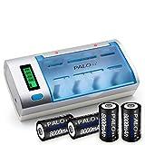 充電式 D型 電池液晶 インテリジェント 高速充電器 家庭用ガスストーブ 電池セット1充電器+ 4電池セット