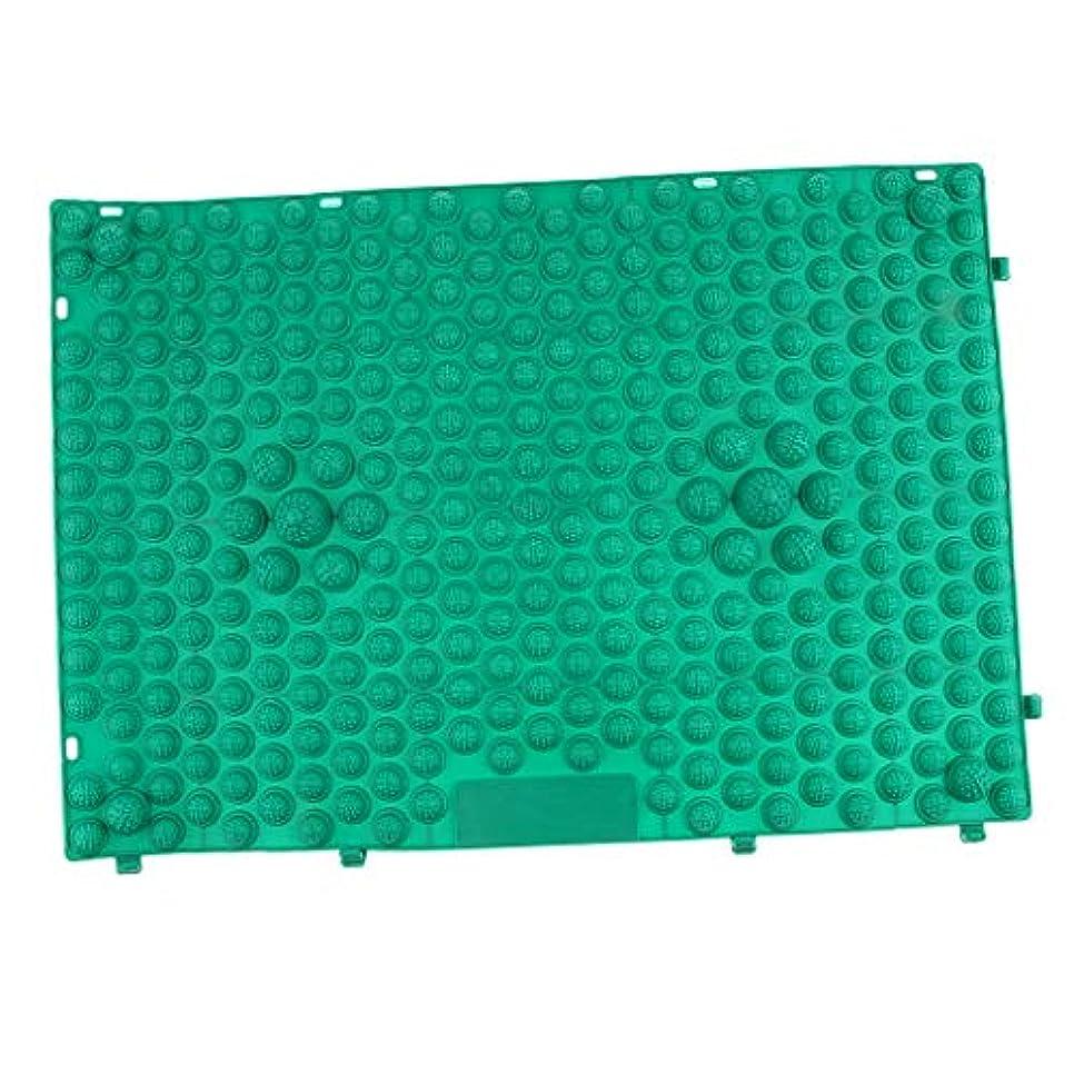 自分のためにの面ではスクレーパーフット マッサージパッド つま先 クッション 指圧マット 足マッサージ 多色選べ - 緑