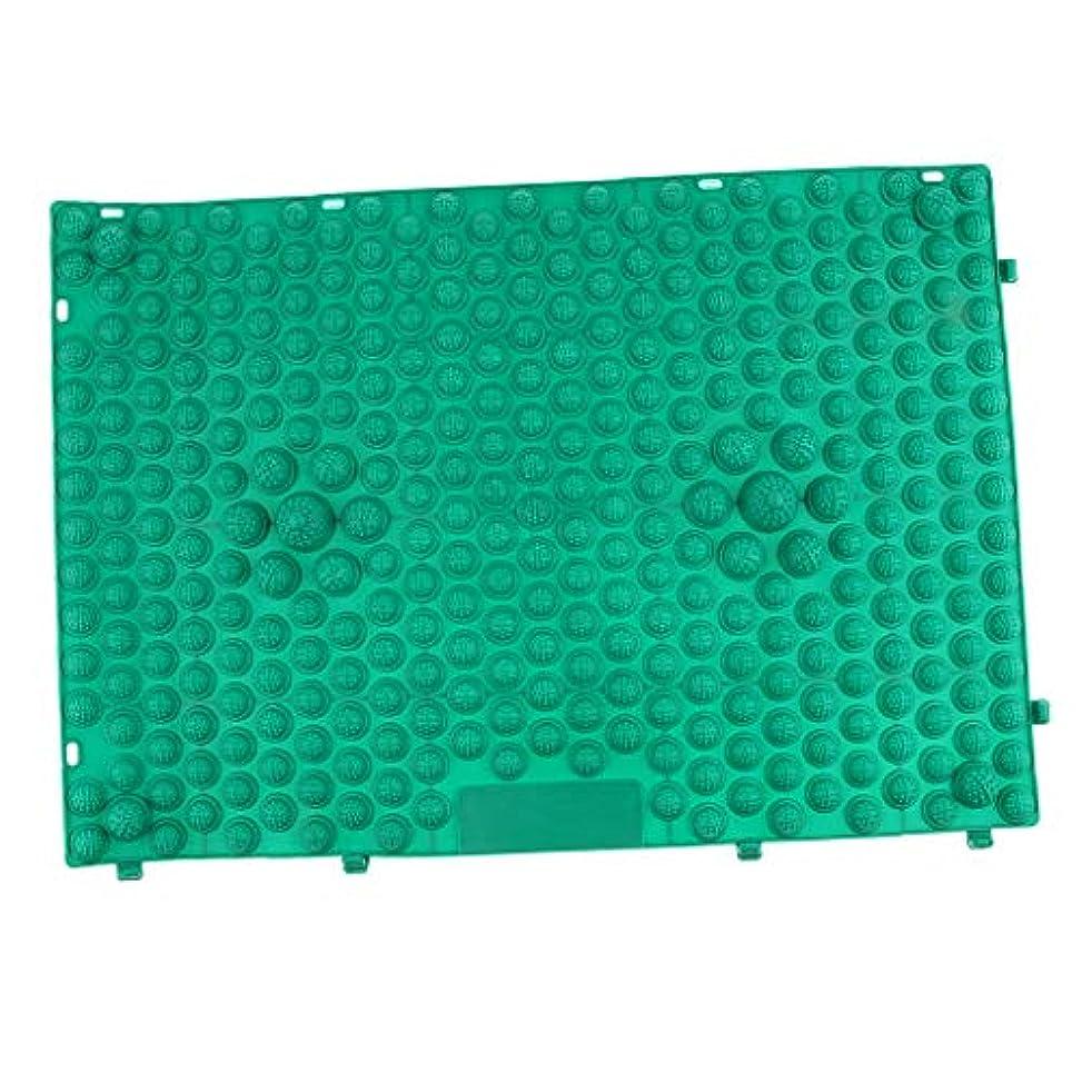制限された突進ほこりフット マッサージパッド つま先 クッション 指圧マット 足マッサージ 多色選べ - 緑