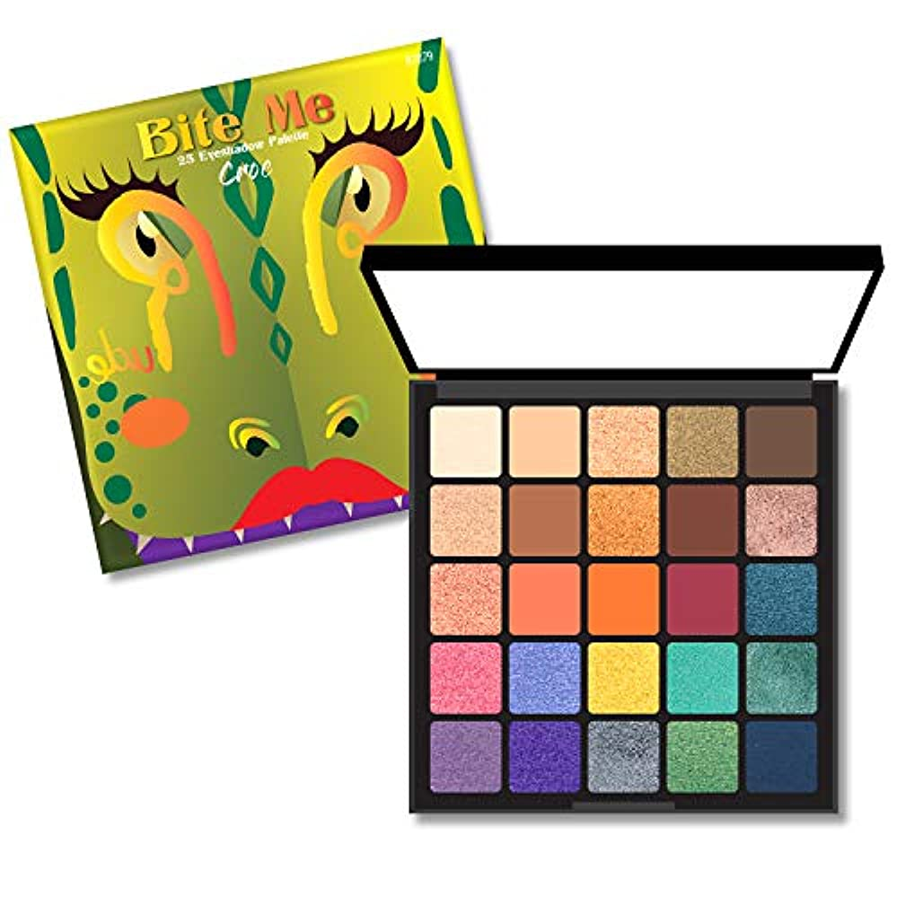 ナチュラアブセイ健康的(3 Pack) RUDE Bite Me 25 Eyeshadow Palette - Croc (並行輸入品)
