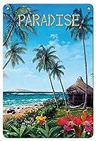 22cm x 30cmヴィンテージハワイアンティンサイン - 太陽 - ハワイモチーフの日 - ペイントされた元の色からのものです によって作成された スコット・ウエストモアランド