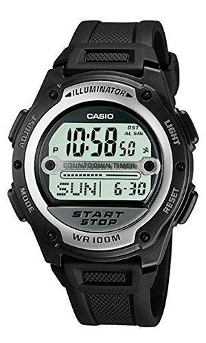 [CASIO] 腕時計 スタンダード デジタル液晶 サッカー 審判 試合時間計測用 海外モデル W-756-1A ユニセックス ブラック [逆輸入品]