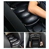 TOPPDR 軽自動車用 アームレスト 肘掛け 肘置き 簡単取り付け 汎用 コンソールパッド ブラック