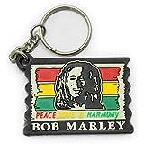 ラバーキーホルダー ボブマーリー Bob Marley ラスタ ブラック