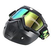 KKmoon オートバイマスク取り外し可能 ゴーグル 口フィルター ヘルメットモトクロススキースノーボード用