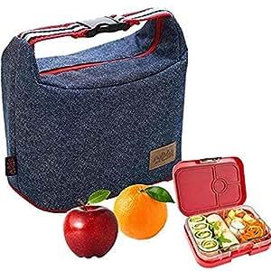 ランチバッグ お弁当袋 デニム 保温 保冷バッグ お弁当トートバッグ 手提げバッグ 再利用可能