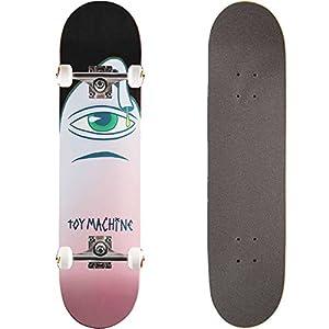 TOY MACHINE(トイマシーン) スケートボード コンプリート (完成品) PINK SECT BLACK 【高品質パーツ使用 ブランド純正品】 スケボー C17021bk (7.875 x 31.25)