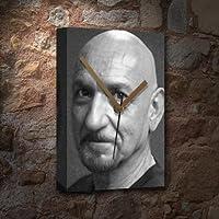 BEN KINGSLEY - キャンバス時計(A5 - アーティストによる署名) #js002