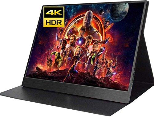 kksmart®4K 15.6インチHDRモニター IPSパネル,UHD 3480 * 2160解像度60HZ ディスプレUSB Type-C 給電/HDMI*2/スピカー内蔵/専用ケース PS3 PS4 ゲーム用 スクリン 超薄9mm/重量:830g 画像比:16:9/4:3 OSD言語:日本語