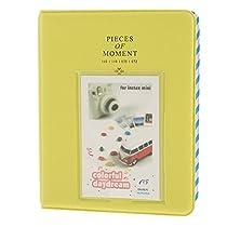 【ノーブランド品】Instaxに適用 フォト アルバム 名刺 収納ケース ミニ フィルム ブック 64枚写真 グリーン