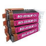BCI-351XLM 互換インク キャノン BCI-351M マゼンダ 4個セット Canon 1年保証付 ICチップ付 プリンター保証付