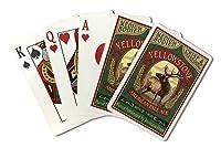 イエローストーン国立公園–Elk Ale Vintage Sign ( Playingカードデッキ–52カードPokerサイズwithジョーカー)