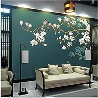 Xbwy 壁画の壁紙中国風の花と鳥のフレスコ画のリビングルームの寝室の装飾-250X175Cm