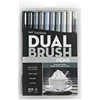 Tombow Dual Brush Pens 10/Pkg-Gray Scale (並行輸入品)