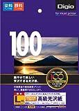 ナカバヤシ 写真用紙 インクジェット光沢紙 高級光沢紙 100枚 L判 JPPG-L-100