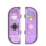 Myriann 任天堂 Nintendo Switch ニンテンドー カラー置換ケース 代わりケース 外殻 ついに登場! (パープル+)