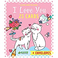 25 I Love You Cards (Clever Cards To Color)