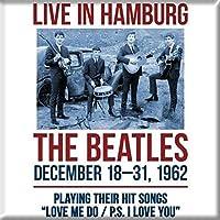 The Beatles 冷蔵庫用マグネット 1962 Hamburg 新しい 公式 76mm x 76mm