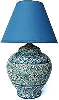 Ghenos - ランプ Azul シリーズ 手塗り マジョリカ 花とクジャクの羽 - 1