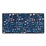 (OnlinyShop) 音符 ブルー トーンデザイン タオル 吸水乾きやすい 抜群の肌触り マイクロファイバー 家庭用フェイスタオル バスタオル 洗車用お風呂 ギフト 30×70cm
