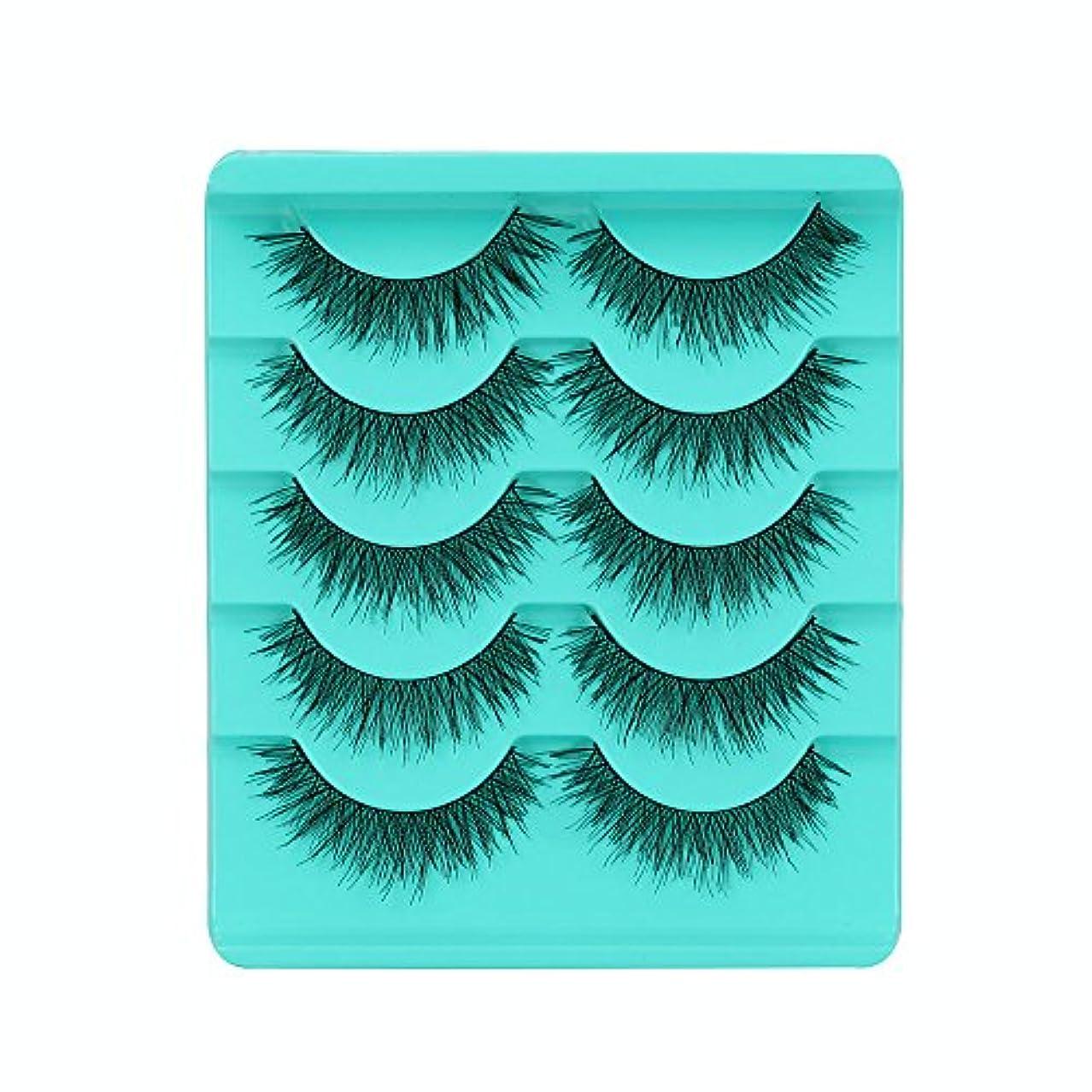 バーマド平手打ちプログレッシブFeteso 5ペア つけまつげ 上まつげ Eyelashes アイラッシュ ビューティー まつげエクステ レディース 化粧ツール アイメイクアップ 人気 ナチュラル 飾り 柔らかい 装着簡単 綺麗 濃密 再利用可能