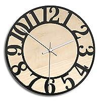 壁掛け時計 シンプルな壁時計レトロノンチックバッテリー駆動ホームオフィスクロック装飾 北欧 店舗 家 寝室 部屋装飾 (色 : Black, Size : 28.3cm)