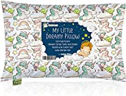 KeaBabies Toddler Pillow With Pillowcase - 13X18 Soft Organic Cotton Baby Pillows For Sleeping - Washable And