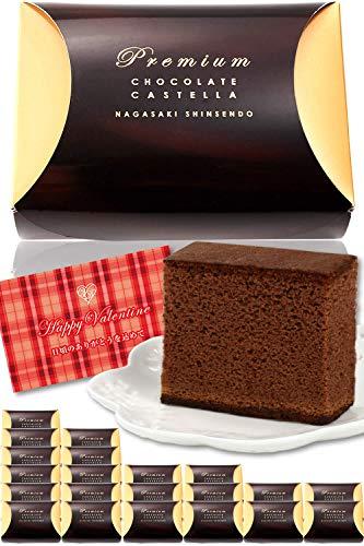 長崎心泉堂 ゴールドボックス プレミアムチョコカステラ 個包装1個 38g プチギフト チョコレート チョコチップ入り バレンタインデー ホワイトデー 贈り物 【日頃のありがとうを込めて/ギフトメッセージカード付】