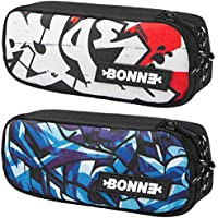 Bonne ('bone') Cases - Bargain Set Of 2 Popular Cases - Pencil Case for School Backpack For Crayons, Pencils, Markers, Erasers, Pens, Toiletry Bag Makeup Case Pencil Case Jewellery pouch - Universe Series - Iceberg & Ruge
