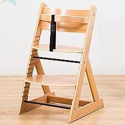笑顔のダイニングベビーチェアー 木製椅子 安心強度の三角形ベース 【マジカルチェア】 ナチュラル色