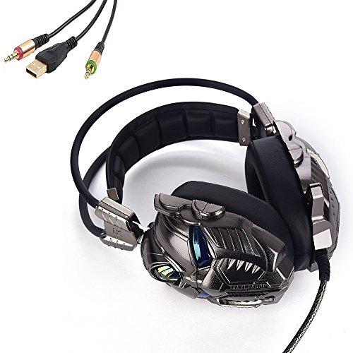PCコンピュータゲーム用ヘッドセット Silver(3 Plugs) シルバー G910-tSilver