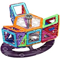 Shinehalo 62 ピース 磁石ブロック 磁気おもちゃ マグネット キッズ 車輪付き 磁石付き積み木 マグネットおもちゃ 立体パズル オモチャ Toys For kids 人気 カラフル 男の子 DIY 創意プレゼント