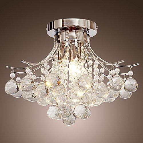 Lightess シャンデリア 水晶 シーリングライト クリスタル
