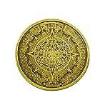アステカ文明 太陽暦モチーフ バックル